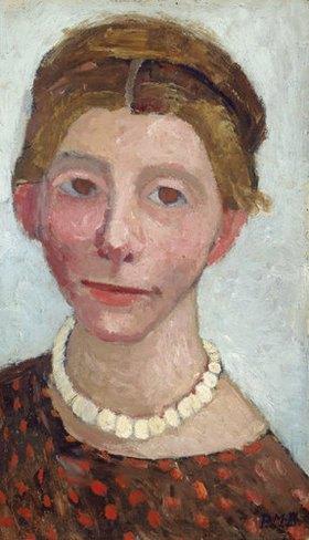 Paula Modersohn-Becker: Selbstbildnis mit weißer Perlenkette
