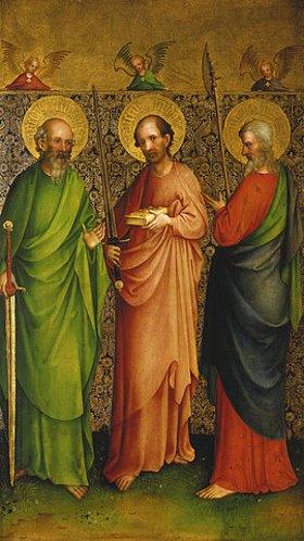 Meister des Heisterbacher Altars: Die Apostel Simon, Judas Taddäus und Mathias