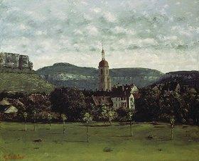 Gustave Courbet: Blick zum Glockenturm von Ornans