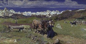 Giovanni Segantini: Frühling in den Alpen