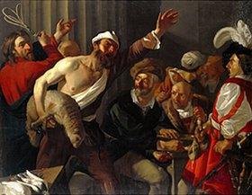 Dirck van Baburen: Christus treibt die Händler aus dem Tempel. 1. Viertel 17. Jahrh