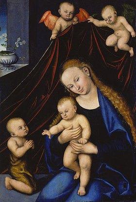Lucas Cranach d.Ä.: Maria mit dem Kind und dem Johannesknaben