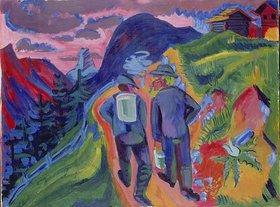 Ernst Ludwig Kirchner: Alpweg nach dem Gewitter