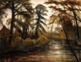 Otto Modersohn: Abenddämmerung (Herbst an der Wümme)
