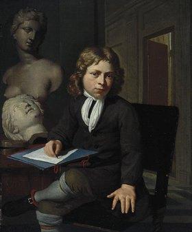 Jan van Neck: Knabe als junger Künstler (Interieur mit Modellköpfen)