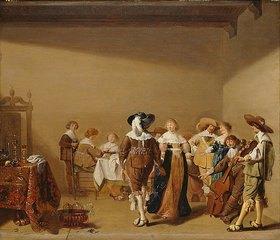 Anthonie Palamedes: Tafelnde und tanzende Gesellschaft