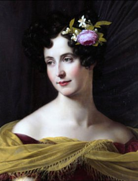 Friedrich Wilhelm von Schadow: Bildnis der Fanny Ebers - Detail
