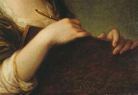 Angelika Kauffmann: Selbstbildnis - Detail: Hände