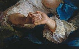 Jean Marc Nattier: Die Liebenden - Detail: Hände