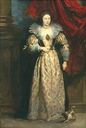 Anthonis van Dyck: Bildnis einer Dame (Sibylla von der Berghe ?)
