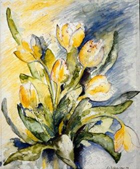 Annette Bartusch-Goger: Gelbe Tulpen