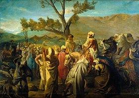 Theodore Chasseriau: Der Caid besucht ein Beduinenlager