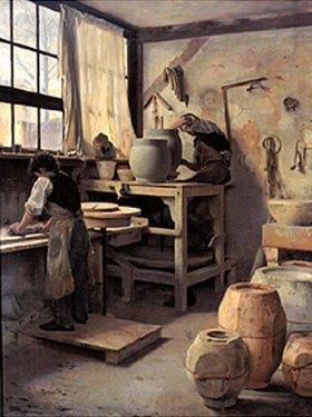 Édouard Joseph Dantan: Töpferwerkstatt