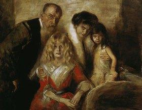 Franz von Lenbach: Franz von Lenbach mit Frau und Töchtern