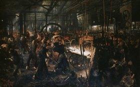 Adolph von Menzel: Eisenwalzwerk