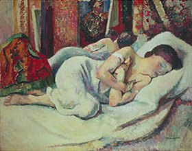Henri Manguin: Schlafende Frau (Femme dormante, Jeanne)