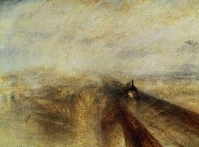 Joseph Mallord William Turner: Regen, Dampf und Geschwindigkeit (The great Western Railway). 1844