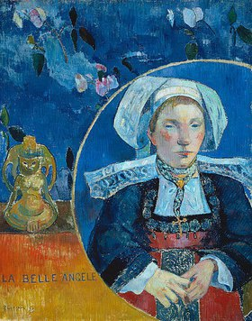 Paul Gauguin: La belle Angele .  (Madame Angele Satre, Gastwirtin in Pont-Aven)