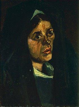 Vincent van Gogh: Kopf einer Bäuerin mit grünem Schal