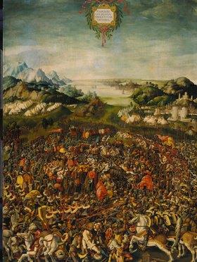 Jörg Breu (Preu) d.Ä.: Die Schlacht bei Zama (Sieg des Publius Cornelius Scipio Africanus über Hannibal)