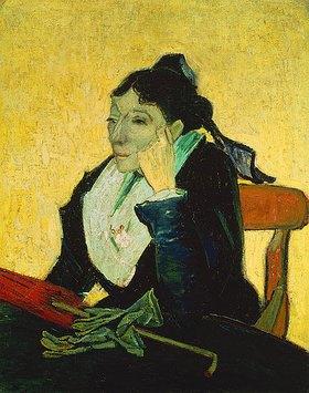 Vincent van Gogh: L`Arlesienne, Mme. Ginoux mit Handschuhen und Schirm