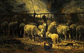 Charles Emile Jacque: Der große Schafstall