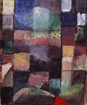 Paul Klee: Über ein Motiv aus Hammamet. 1914
