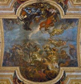 Charles Le Brun: Überquerung des Rheins 1672, Deckengemälde in der Glaspalast-Galerie, Paris