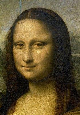 Leonardo da Vinci: Mona Lisa. Detail Kopf