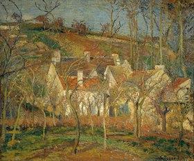 Camille Pissarro: Rote Dächer, Dorfecke im Winter