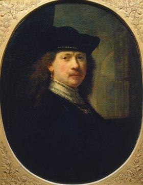 Rembrandt van Rijn: Selbstbildnis mit Barett