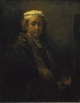 Rembrandt van Rijn: Selbstbildnis vor der Staffelei