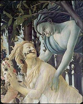 Sandro Botticelli: Detail aus dem Gemälde Der Frühling: Cephir und die Nymphe Chloris