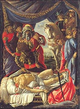 Sandro Botticelli: Die Entdeckung des getöteten Holofernes
