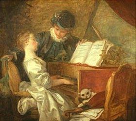 Jean Honoré Fragonard: Die Klavierstunde