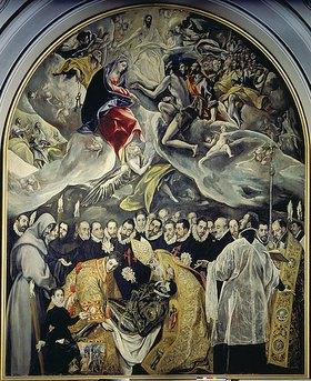 Greco El (Dominikos Theotokopoulos): Das Begräbnis des Conde de Organz