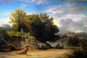 Léon Benouville: Italienische Landschaft