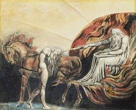 William Blake: Gott straft Adam