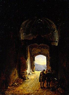 Charles Marie Bouton: In einer Ruine
