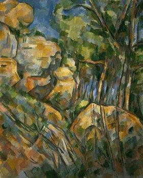 Paul Cézanne: Felsenlandschaft in der Nähe der Grotte im Park des Château-Noir. Gegen