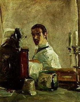 Henri de Toulouse-Lautrec: Selbstportrait vor einem Spiegel