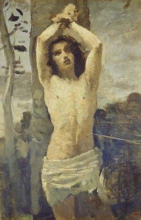 Jean-Baptiste Camille Corot: Der Hl. Sebastian am Marterpfahl
