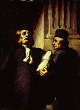 Honoré Daumier: Die beiden Advokaten