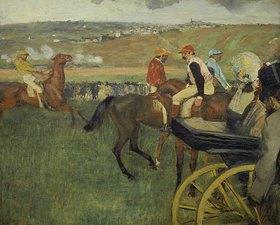 Edgar Degas: Kutsche auf dem Rennplatz
