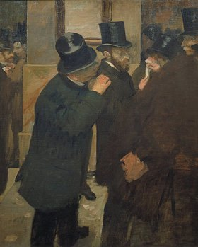 Edgar Degas: Ernest May (1845-1925) an der Pariser Börse