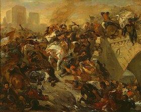 Eugene Delacroix: Die Schlacht von Taillebourg (Skizze)