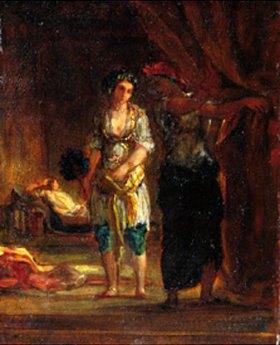 Eugene Delacroix: Jüdin von Algier bei ihrer  Toilette
