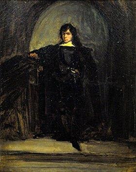 Eugene Delacroix: Selbstbildnis als Hamlet (oder Ravenswood)