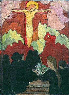 Maurice Denis: Opferszene an einem Kruzifix