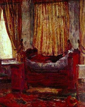 James Ensor: Kranke Frau auf dem Ruhelager
